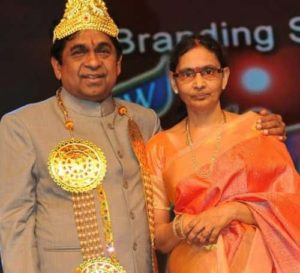 Actor Brahmanandam with Wife