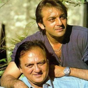 Sanjay Dutt with his Father