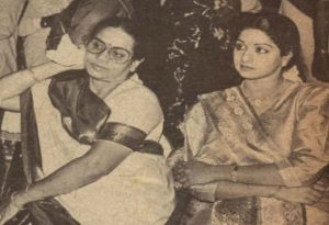 Sridevi with Her Mother