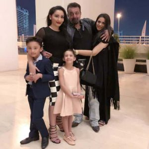 The Bollywod Star Sanjay Dutt with Family