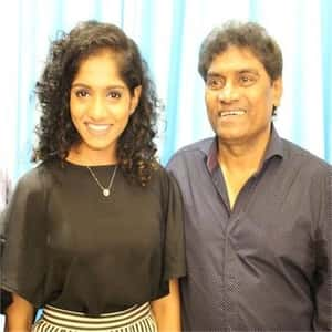 Johnny Lever with his Daughter Jamie Lever