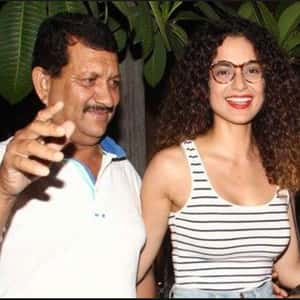 Kangana Ranaut with her Father