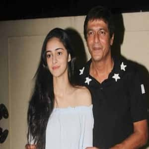 Ananya Pandey with her Father Chunky Pandey