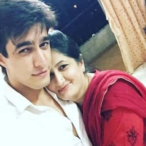 Mohsin Khan with his Mother