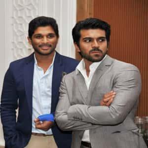 Ram Charan with Allu Arjun
