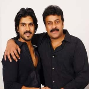 Ram Charan with his Father Chiranjeevi