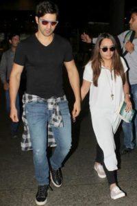 Natasha Dalal with Varun Dhawan