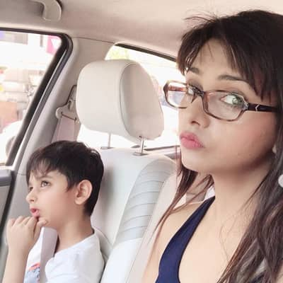 Dalljiet Kaur With Her Son Jaydon