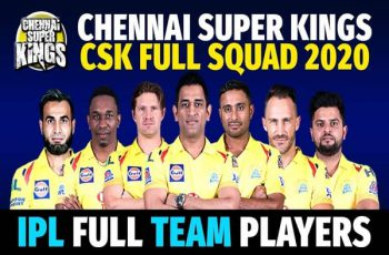 Chennai Super Kings Players 2020 - IPL 2020 Complete Squad of CSK