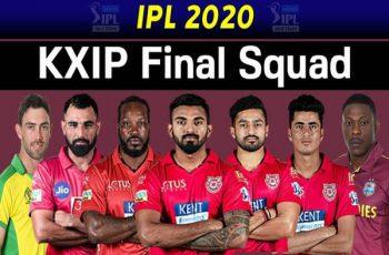 Indian Premier League 2020- Kings XI Punjab Players 2020 Complete List